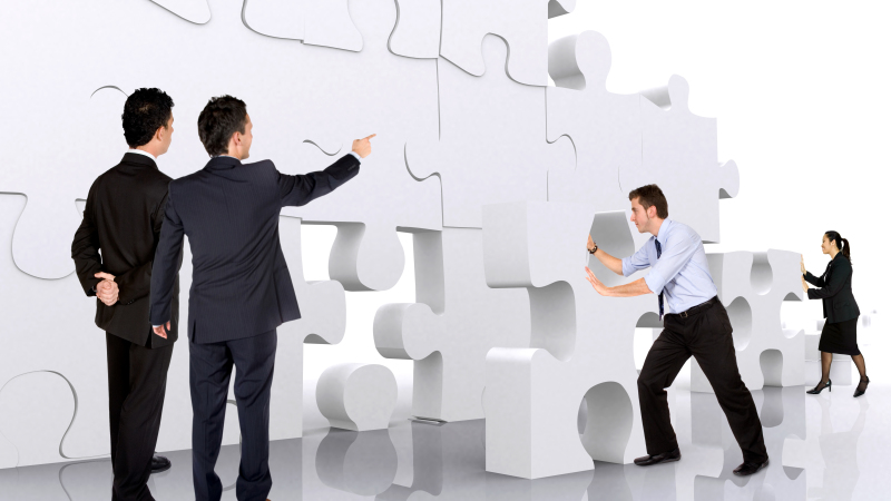 Management and Leadership puzzle photo